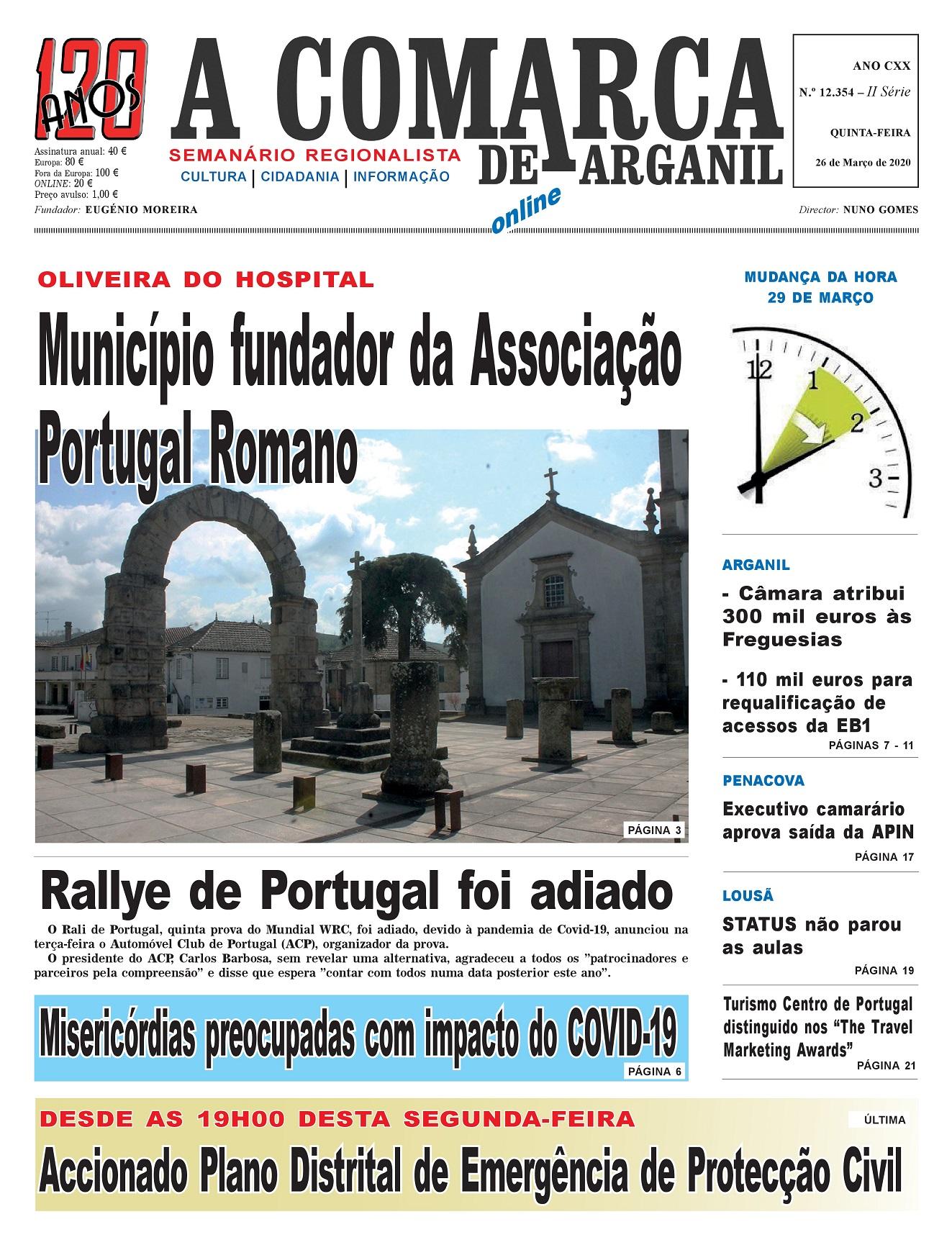 PRIMEIRA PÁGINA 26-03-2020