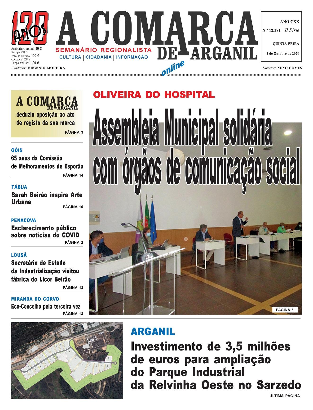 PRIMEIRA PÁGINA 01-10-2020